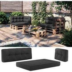 Vicco Palettenkissen-Set Sitzkissen + Rückenkissen + Seitenkissen, verschiedene Farben