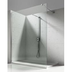 Aloni Walk-in-Dusche 8mm Walk in Duschwand NANO Echtglas Glas Dusche, ESG-Sicherheitsglas mit Nano-Beschichtung