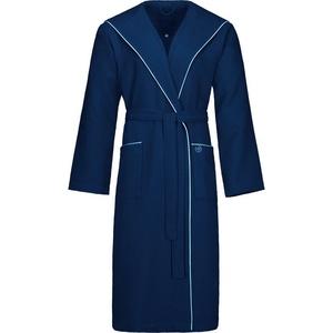 Herrenbademantel Tizian, bugatti, mit Baumwollbiese blau L