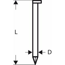 D-Kopf Streifennagel SN34DK 50. 2.8 mm. 50 mm. bla
