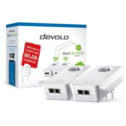 DEVOLO 2400 Mbit/s, 4x GB LAN, bestes Mesh Tri-Band Netzwerk-Switch (Mesh WLAN 2 Starter Kit)