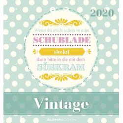 Vintage 2020 - Postkartenkalender
