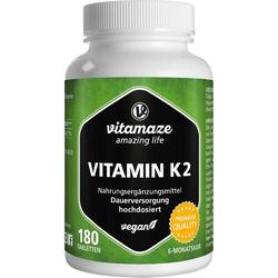 VITAMIN K2 200 µg hochdosiert vegan Tabletten 180 St.