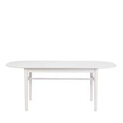 Ovaler Küchentisch in Weiß Skandi Design