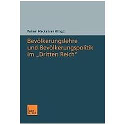 Bevölkerungslehre und Bevölkerungspolitik im 'Dritten Reich' - Buch