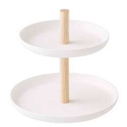 Yamazaki Mini- Etagere mit zwei Etagen, weiß
