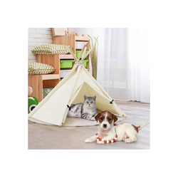 COSTWAY Tipi-Zelt Tipi Tierzelt, Hundezelt Katzenzelt Haustierzelt Haustierbett Hundebett Katzenbett für Haustiere 84x80x73cm