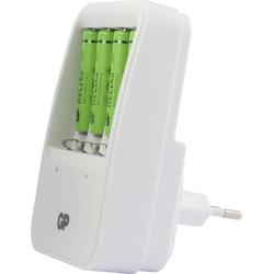 GP Batteries PB420 Rundzellen-Ladegerät inkl. Akkus NiMH Micro (AAA), Mignon (AA)