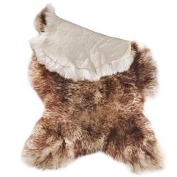 Pets Nature - echtes Fell vom Schaf, braun/weiß