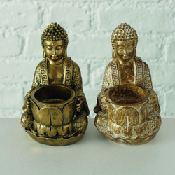 Teelichthalter BUDDHA JARVEN (BH 8x17 cm)
