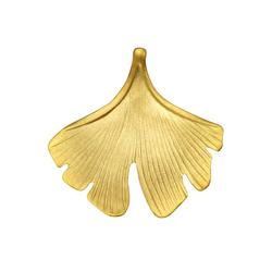 Firetti Kettenanhänger Ginkgo, glänzend, vergoldet und matt