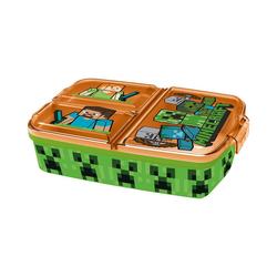 p:os Brotschale Brotdose mit 3-Fach-Unterteilung Minecraft