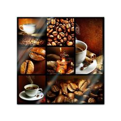 Bilderdepot24 Glasbild, Glasbild - Kaffee Collage II 30 cm x 30 cm