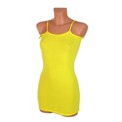 gelbes Korsetthemd mit Spaghettiträger und Flügel