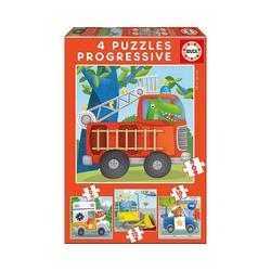 Educa Puzzle 4 Puzzles Rescue Patrol, 6-9-12-16 Teile, Puzzleteile