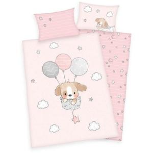 Babybettwäsche Kleiner Hund - Baby-Bettwäsche-Set von Herding, 100x135 & 40x60 cm, Baby Best, 100% Baumwolle