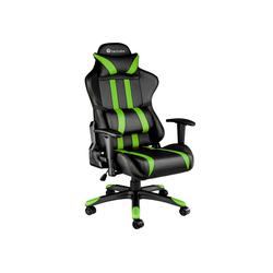 tectake Gaming-Stuhl Premium Racing Bürostuhl mit Streifen schwarz 75.0 cm x 131.0 cm x 70.0 cm