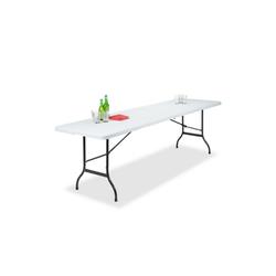 relaxdays Gartentisch Klappbarer Gartentisch 240 x 70 cm