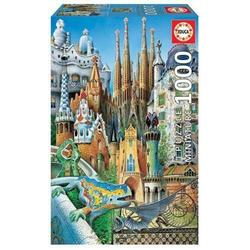 Carletto Puzzle Educa - Gaudi 1000 Teile Miniature Puzzle, Puzzleteile
