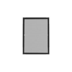 Insektenschutzplissee Nematek® Pro Teleskop Insektenschutz Fenster 120 x 140cm, Nematek grau