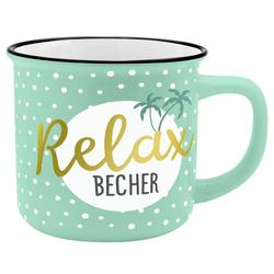 Sheepworld Tasse Auswahl Sheepworld Gruss & Co - Lieblings- Kaffe- Becher Tasse in Emaille Optik Art: Relax - Becher