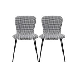KARE Stuhl Stuhl Frida Schwarz Und Weiss 2Set
