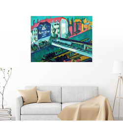 Posterlounge Wandbild, Straßenbahn und Eisenbahn 130 cm x 100 cm
