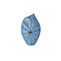Deko-Vase ¦ blau ¦ Polyresin (Kunstharz)