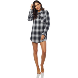 Hemd FOX - Moto X Long Flannel Blk/Wht (018)