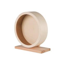 TRIXIE Tier-Beschäftigungsspielzeug Nager Holzlaufrad Kugellager, Holz 13 cm x 33 cm x 29 cm
