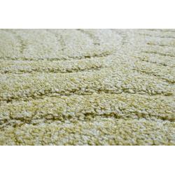Teppichboden Amberg, Andiamo, rechteckig, Höhe 9 mm, Meterware, Breite 300 cm, Hoch-Tief Teppichboden grün