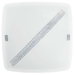 Osseja LED Deckenleuchte mit Kristalldekor 1850lm Weiß, Klar