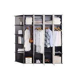 Woltu Kleiderschrank Super Größ & Praktisch Kleiderschrank Mit 2 Kleiderstange aus Kunststoff bei Woltu