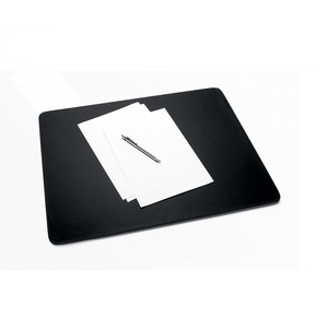 SIGEL SA166 Schreibunterlage Eyestyle aus hochwertigem Leder-Imitat, schwarz / dunkelgrau