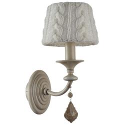 Casa Padrino Barock Kristall Wandleuchte / Wandlampe Beige 15 x 23 x H. 33 cm - Barockstil Möbel