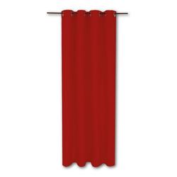 Vorhang, Bestlivings, Ösen (1 Stück), Thermogardine, blickdicht 140x245cm, hitzeabweisend und wärmeisolierend rot