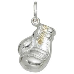 JOBO Kettenanhänger Boxhandschuh, 925 Silber bicolor vergoldet