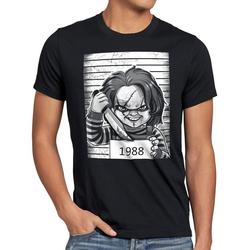 style3 Print-Shirt Herren T-Shirt Chucky 1988 halloween horror puppe 4XL
