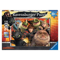 Ravensburger Puzzle Dragons - Hicks, Astrid und die Drachen, 200 Puzzleteile, Made in Germany