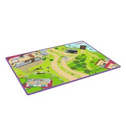 Schleich® Spielteppich Horse Club grün/bunt 92,0 x 133,0 cm