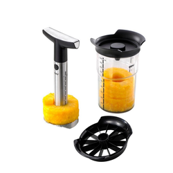 GEFU Obstschneider Ananasschneider Professional Plus,Messer und Schäl, (3-tlg)