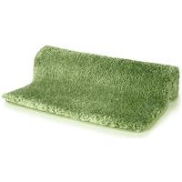 Spirella Badteppich Badematte Duschvorleger Mikrofaser Hochflor flauschig rutschhemmend geeignet für Fußbodenheizung 80x150 cm Olive Grün