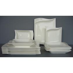 van Well Tafelservice Harmony, (Set, 12 tlg.), Mikrowellengeeignet weiß Geschirr-Sets Geschirr, Porzellan Tischaccessoires Haushaltswaren