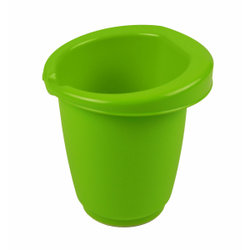 Gies greenline Rührbecher, 1 Liter, Schüssel zum Umrühren mit Gummiring, Maße: Ø 15,5 x 16 cm, grün