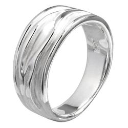 Vinani Silberring, Vinani Ring Baum Rillen fein-mattiert glänzend Sterling Silber 925 RER 52 (16.6)