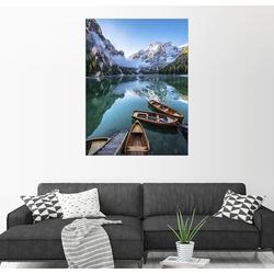 Posterlounge Wandbild, Morgenstimmung am Pragser Wildsee 60 cm x 80 cm