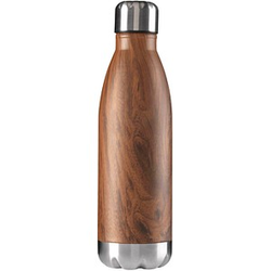 Isolierflasche Wood braun 0,5 l