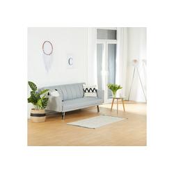 Homestyle4u Schlafsofa, Schlafcouch Grau, 85,5 x 198 cm