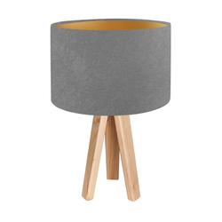 Kiom Tischleuchte Tischlampe Jalua T grey & gold Holz Dreibein