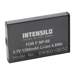 INTENSILO Li-Ion Akku 1300mAh (3.7V) für Kamera Camcorder Praktica DVC 5.2 HD, DVC 6.1 wie NP-60, DB40.